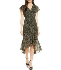 women's sam edelman side ruched chiffon midi dress