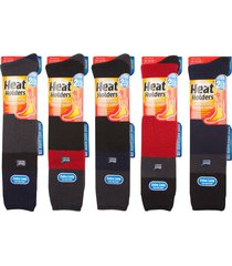 heat holders - mens winter warm extra long over the calf thick thermal ski socks