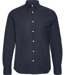 stretch oxford slim shirt overhemd casual blauw j. lindeberg