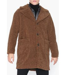 only & sons onsbase long teddy coat otw jackor mörk brun