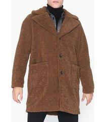 only & sons onsbase long teddy coat otw jackor mörk brun