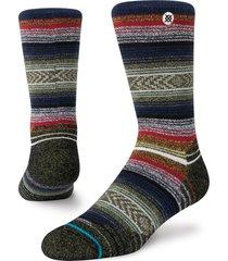 women's stance windy peak crew socks, size medium - black