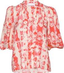 ivy puff blouse blus långärmad rosa storm & marie