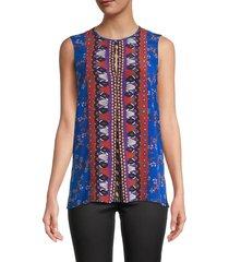 kobi halperin women's lorina silk sleeveless blouse - size s