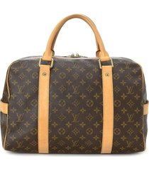 louis vuitton pre-owned carryall travel bag - brown