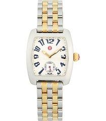 logo seven-link stainless steel bracelet watch