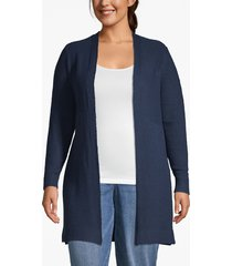 lane bryant women's open-front tunic cardigan 18/20 moonlit ocean