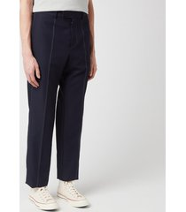 oamc men's bleach contrast pants - navy - l