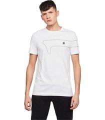 g-star d16404 336 one slim tee t shirt and tank men white