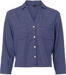 camicetta in lino (blu) - bodyflirt