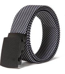 130cm mens casual comodo nylon dots smooth buckle waist outdoor military tactical cintura