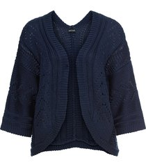cardigan corto oversize (blu) - bodyflirt