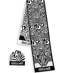 2-piece abstract wool blend scarf & beanie set