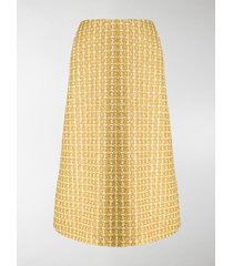 balenciaga tweed a-line skirt