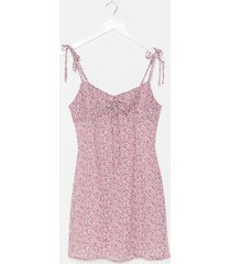 womens a strappy medium floral mini dress - lilac