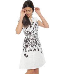 vestido tentation flores blanco - calce regular