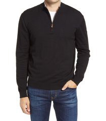 men's johnnie-o bailey quarter zip sweater, size x-large - black
