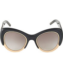 48mm oversized cat eye sunglasses