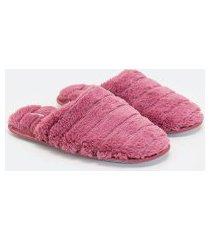 pantufa com pelinhos textura lisras | accessories | rosa | 34/35