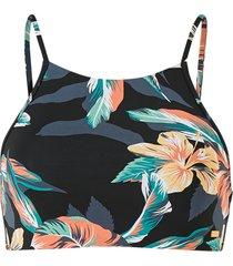 bikinitopp printed beach classics crop top
