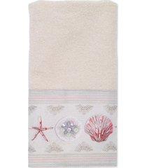 avanti coronado cotton graphic-print beaded fingertip towel bedding