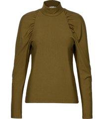 rifagz turtleneck blouse lange mouwen groen gestuz