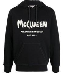 alexander mcqueen logo-print hoodie