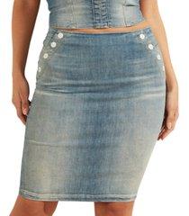 guess gwenda sailor-style denim skirt