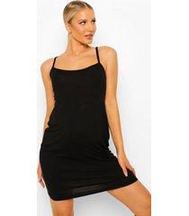 zwangerschap basic jersey nachtjapon, black