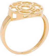 anel feminino chacra manipura em ouro