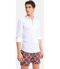 peninsula swimwear shirt spiaggia bianca linen