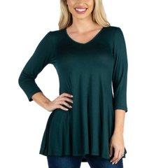 24seven comfort apparel women v neck swing tunic top