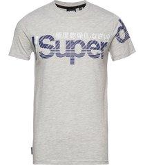 core split logo tee t-shirts short-sleeved grå superdry