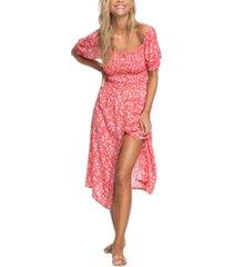 roxy juniors' sunshine mind printed midi dress
