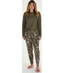 hunkemöller jersey pyjamasbyxor grön