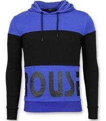 enos hoodie heren slim fit blauw