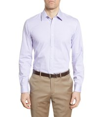 men's big & tall ted baker london sunray trim fit stretch dress shirt, size 17.5 - 36/37 - purple