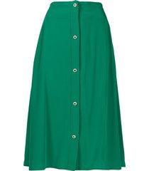 christopher kane decorative button a-line skirt - green