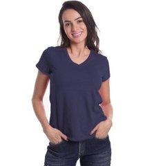 t-shirt denuncia basica 10016 marinho - marinho - pp - feminino