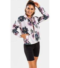 alaia floral track jacket - multi