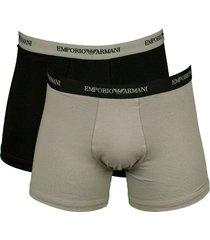 armani boxershort 2pak zwart - grijs