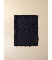 emporio armani neck scarf emporio armani stole in viscose and modal with lurex sequins