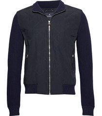 hybrid knit bomber dun jack blauw hackett london