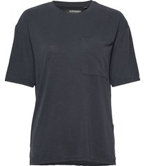 canyon essential pocket tee t-shirts & tops short-sleeved svart superdry