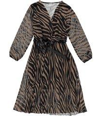 jurk bruin dress