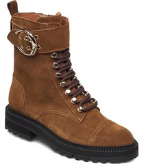 boots 4803 shoes boots ankle boots ankle boot - flat brun billi bi