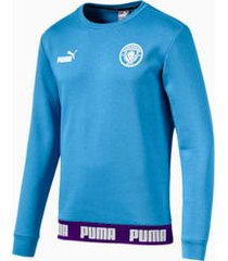 man city football culture sweater voor heren, blauw/wit, maat 3xl | puma