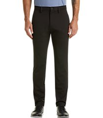 haggar the active series black slim fit tech casual pants