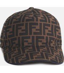 fendi baseball cap with all-over ff motif