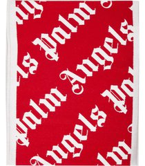 palm angels monogram scarf